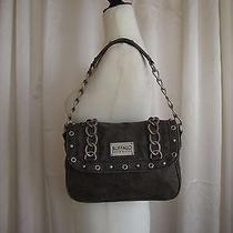 Buffalo David Bitton Gray Christy Shoulder Fold Over Shoulder Bag Medium Size  Photo