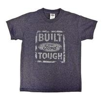 Built Ford Tough Distressed Look Youth Tee Denim Heather- Large Photo
