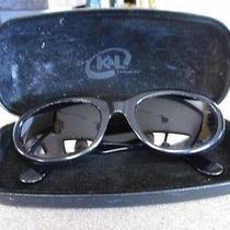 Bulgari Black Dark 810 501/61 Italy Made Sunglasses w/k&l Eyewear Case Photo