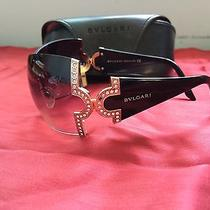 Bulgari Brown Designer Sunglasses With Crystals Photo
