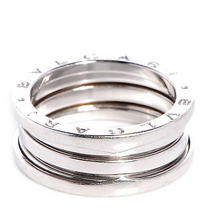 Bulgari Bvlgari 18k White Gold B.zero1 4 Band Ring Jewelry 60 Us 9.25 Photo
