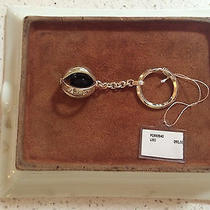 Bulgari Spherical Keychain in Sterling Silver With Onyx Inside Nwt Stunning Photo