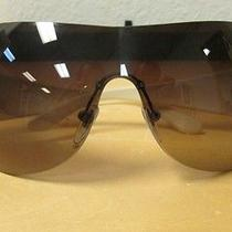 Bulgari Sunglasses 6065-B White/brown/gold Parentesi Like New Condition Photo