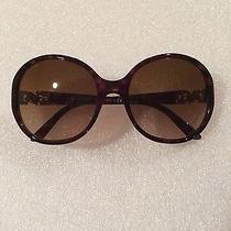 Bulgari Women's Sunglasses 8108-B With Swarovski Elements Spotted Brown Photo