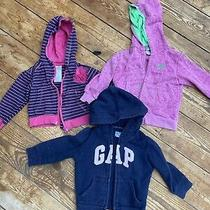 Bundle of Baby Girl Hoodies Pink and Navy Blue Age 12-18 Month Gap Nike Photo