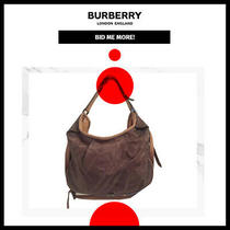 Burberry  100% Authentic  Green Khaki Plaid Nylon & Leather Hobo Shoulder Bag  Photo