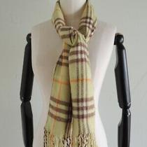 Burberry 100% Cashmere Fringe Nova Plaid Scarf Made in England Size 54 X 12 Photo