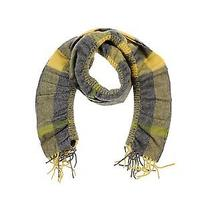 Burberry 100% Cashmere  Yellow Nova Check Ruched Scarf  Photo