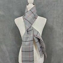 Burberry 100% Wool Scarf Genuine Size Uni-Sex Grey Missing Tag Photo