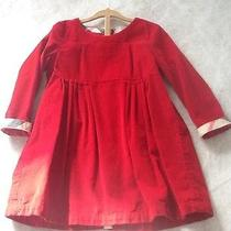 Burberry 3t Red Corduroy Dress Photo
