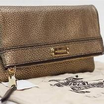 Burberry Adeline Leather Wrist Clutch Bag Antique Gold 550 Photo