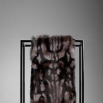 Burberryanimal Printed Rabbit Fur Scarf (Mid Grey) Photo