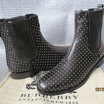 Burberry Ardglass Dress Pull-on Leather Studded Boots  Msrp 950 Size 7.5 Photo