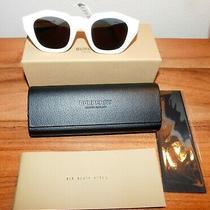 Burberry B 4288 3007/87 White Sunglasses New Tag Case Box Photo