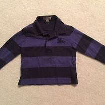 Burberry Baby Boy Blue Black Strip Long Sleeve Shirt 2y/92cm Photo