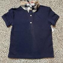 Burberry Baby Boy Dress Shirt Navy Sz 18m Defect New Photo