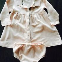 Burberry Baby Dress Pink With Matching Bloomers 6 Months Like New Photo