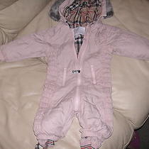 Burberry Baby Girl Pink Snow Suite 9m Photo