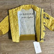 Burberry Baby Girl Yellow Jacket 6-9 Months Nwt Photo