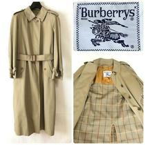 Burberry Bal Collar Trench Coat Beige With Liner Women M Size Outerwear From Jpn Photo
