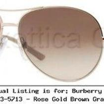 Burberry Be3053 Sunglasses 112913-5713 - Rose Gold Brown  Be3053-112913-57 Photo