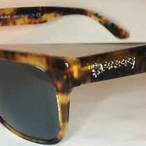 Burberry Be4268 371680 the Doodle Brown Havana Blue 56 Mm Men's Sunglasses Euc Photo