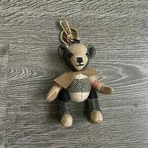 Burberry Bear Teddy Plaid Classic Bag Charm Keychain Key Holder Nwot Photo