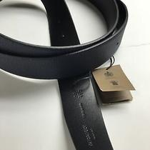 Burberry Belt Navy/black Size/fit 110 No Buckle Photo