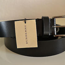 Burberry Black Cleydon Leather Belt  Brand New  Size 36(90) Made in Italy Photo