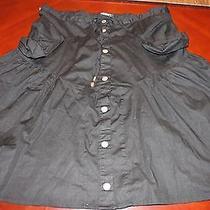 Burberry Black Cotton Skirt Euc Photo