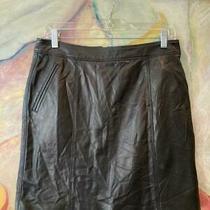 Burberry Black Lambskin Skirt Size 8 (30
