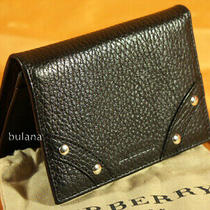 Burberry Black Leather Credit Card Case/purse Nwot Photo