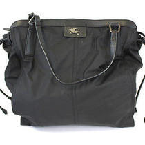 Burberry Black Microfiber Zip Top Handbag Tote  Photo