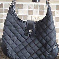 Burberry Black Quilted Hobo- Missing Padlock Photo