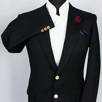 Burberry Blazer Jacket Blue Wool 36r Superb Jacket 3310 Photo