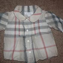 Burberry Blouse Infant Girls Size 6 Months Photo