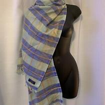 Burberry Blue and Green Cashmere Scarf Photo