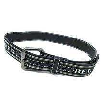 Burberry Blue Label Belt Jacquard Logo Leather Combination Pin Buckle Black Photo