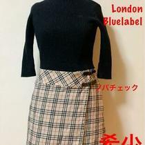 Burberry Blue Label Rib Knit Skirt Docking Dress M no.37762 Photo
