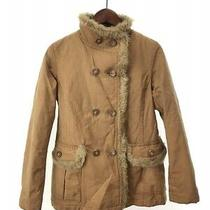 Burberry Blue Label Stand Color Fur Jacket 38 Polyester Beg Plain Fcf54-707 Dirt Photo