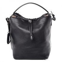 9827827834 Burberry Brit Ashby Medium Black Pebbled Leather Hobo Bag 1095 Check  Handbag Photo