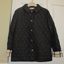 Burberry Brit Black Quilted Barn Jacket Size Small - Great Condition Photo