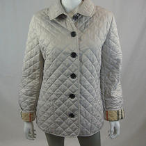 Burberry Brit Classic Beige Quilted Barn Jacket Sz L...mint Photo