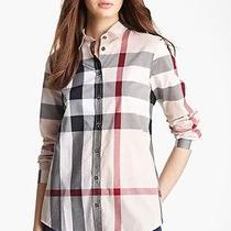 Burberry Brit Cotton Check Button Down Cotton Blouse Large Photo