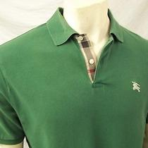 Burberry Brit Men's Short Sleeve Polo Shirt Xlarge 100% Cotton Green Photo