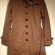 Burberry Brit Military Green Cotton Trench Coat 6 New Other Photo