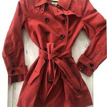 Burberry Brit Red Trench Coat Us 10 Photo