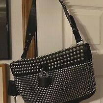 Burberry Brit Rhythm Dalston Studs Lock Leather Black Handbag Purse Bag Rare Photo