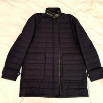 Burberry Brit Women's Blue Coat. Size Uk Small. Excellent Condition. Photo