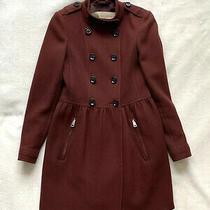 Burberry Brit Women's Burgundy Coat. Size Uk 10.  Photo